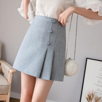 e19305c03 Las mujeres Bodycon falda lápiz de cintura alta Slim volantes modesto  apretado a la cadera elegante ...