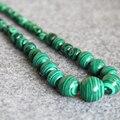 T8290 New 6-14mm Green Turkey Malachite beads Necklace,Fashion charming women jewelry wholesale FREE SHIPPING
