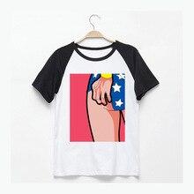 Super hero Wonder Woman funny t shirts men women asian size