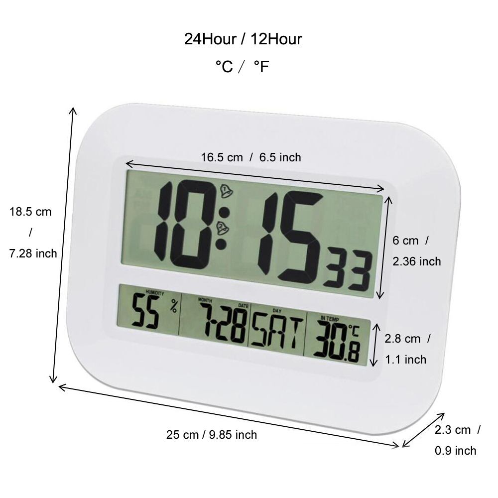 Decorative Digital Wall Alarm Clock Table Desktop Calendar