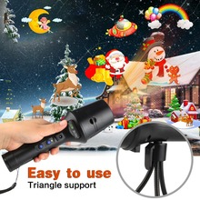 Outdoor LED Laser Light Projector Christmas Led Rechargeable Flashlight Stage Light Disco Stage Projection 18650 Batter