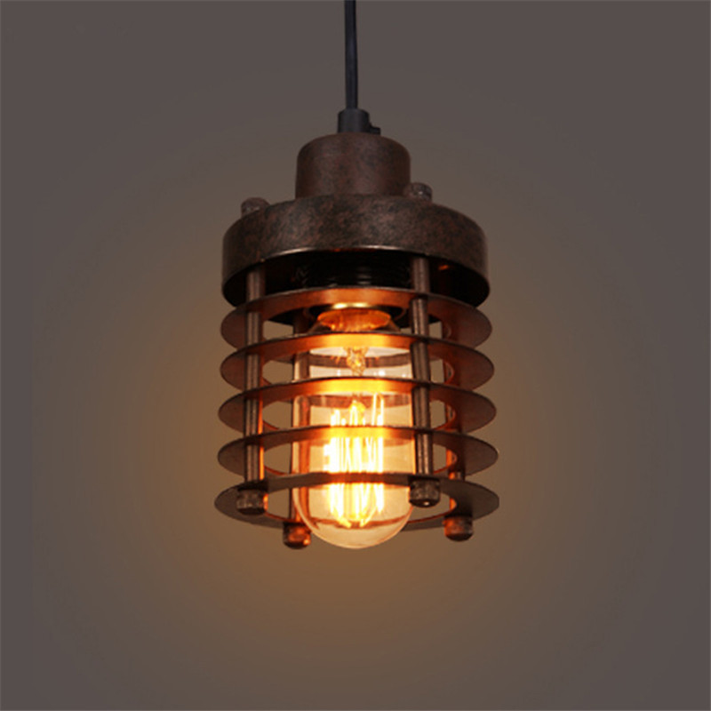 Vintage Pendant Lamp, Industrial Iron Hanging Lights for Cafe Bar Decorative Lighting Fixtures,Free Shipping new loft vintage iron pendant light industrial lighting glass guard design bar cafe restaurant cage pendant lamp hanging lights