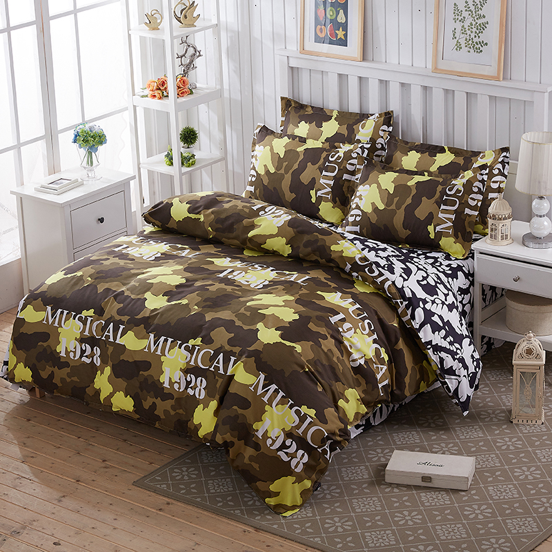 Adults child for bedding set 4pcs duvet cover set twin full queen size bed set printed sheet bed linen bedclothes pillowcase