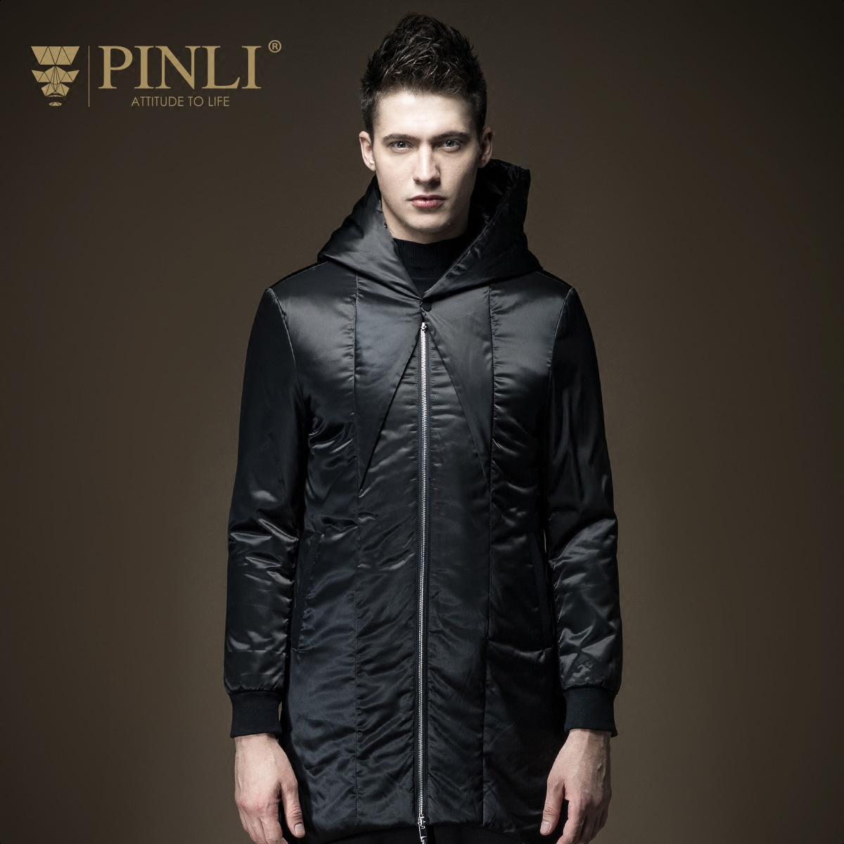 ФОТО Winter Jacket Men Direct Selling Acetate Regular Scarf Collar Cotton Standard Pinli 2016 New Men's Coat Male B164305190
