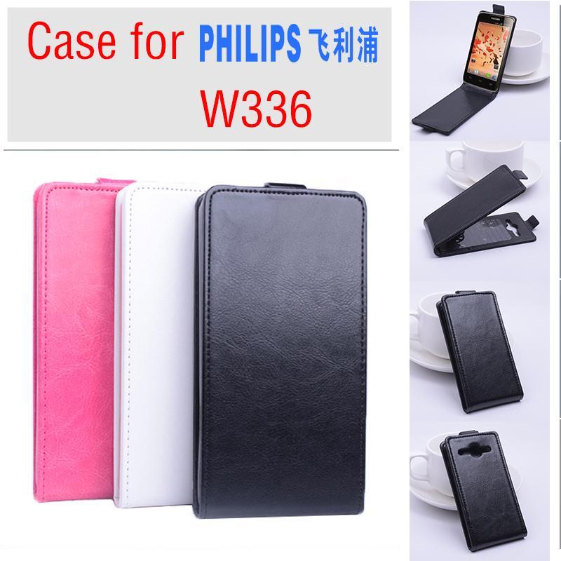 b6a35afdeb8 Para Philips W336 caso, nueva Alta Calidad genuino de filp Funda de cuero  para Philips W 336 estilo del negocio