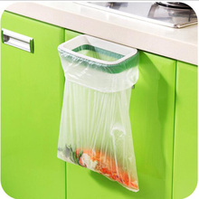 creative hanging kitchen cupboard door back style trash storage rack trash bag holder kitchen cleaning tool d0 - Trash Bag Holder