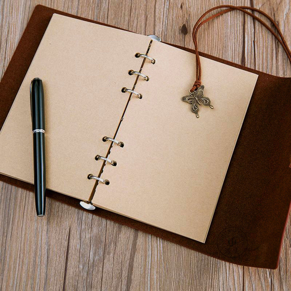 80sheets A6 Notebook Inner Pages Notepad Spiral Filler Paper Fichario The Office School Vintage Retro Kraft Paper
