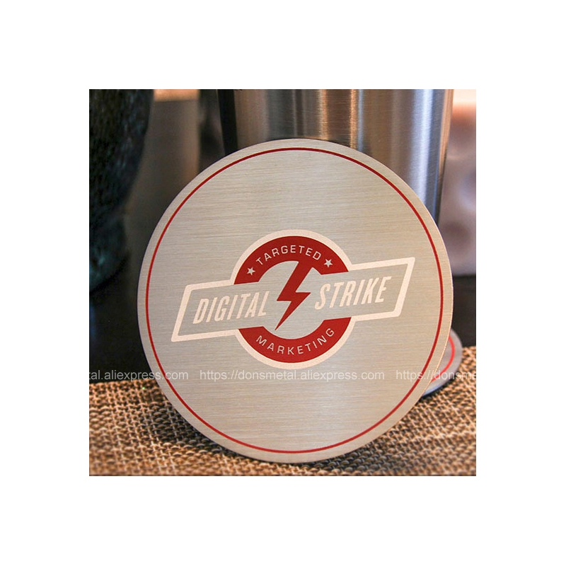 Stainless Steel Crafts Personality Coaster Metal Mats Stainless Steel Table Pad Business Promotional Coaster