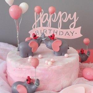 Image 2 - Leuke Ballon Vogel Olifant Animal Party Cake Topper Baby Shower Jongen Meisje Verjaardagsfeestje Decoraties Kids Gelukkige Verjaardag Geschenken