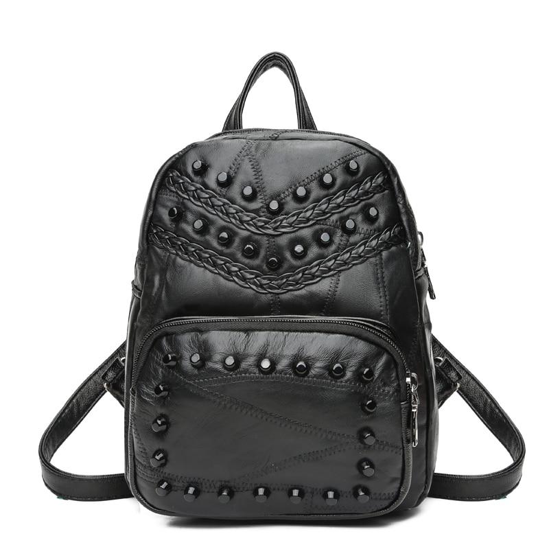 Shengdiyage backpack women mochila feminina Sheepskin Large capacity leather women Backpack sac a dos femme women bag