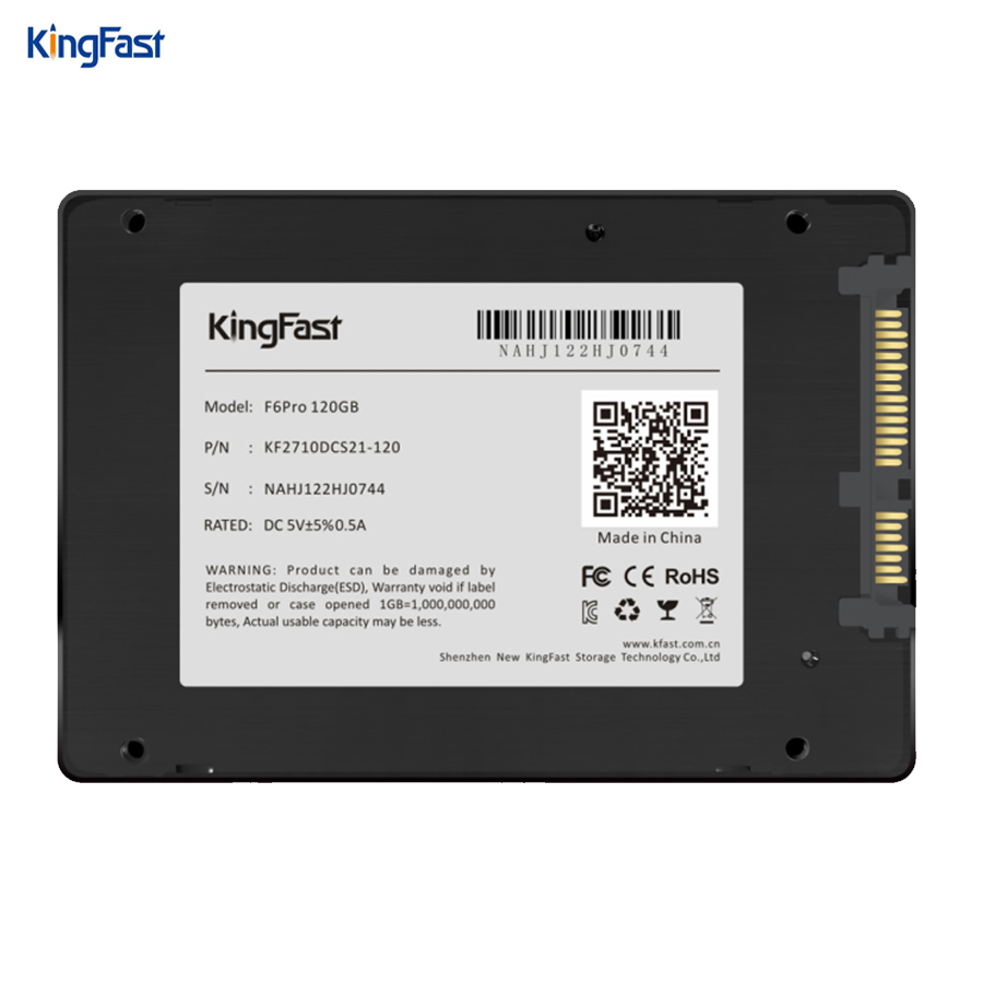 Kingfast ultrathin metal 2.5 SATA III SSD hard disk internal 120GB 240GB 480GB 1TB with cache SATA3 6Gbps for laptop&desktop