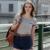 Veri gude verão estilo casual t-shirt das mulheres slim fit camisa de algodão listrado o-pescoço sete cores bonitos de todos os jogos frete grátis
