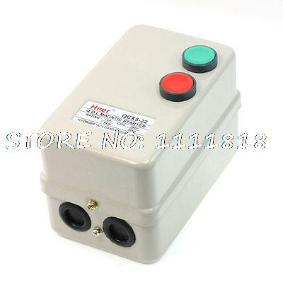 Push Button Switch 3Pole 1NO Motor Magnetic Starter 380V Coil 7.5KW 14-22A chint electromagnetism starter magnetic force starter qc36 10t motor starter phase protect magnetic force switch
