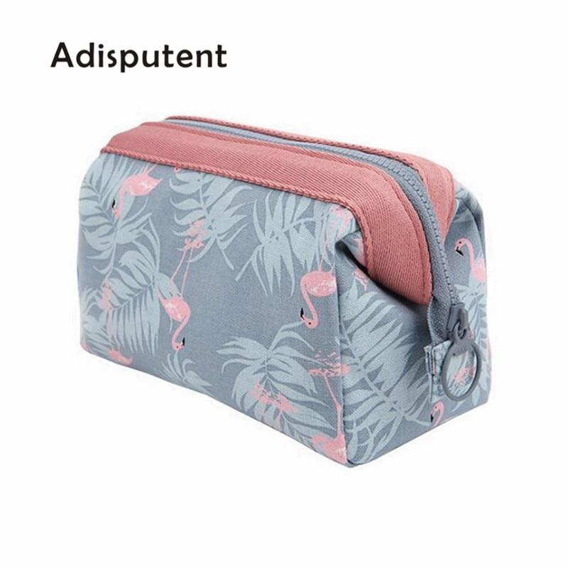Adisputent Cosmetic-Bag Toiletry-Kits Flamingo Travel Waterproof Portable Women New