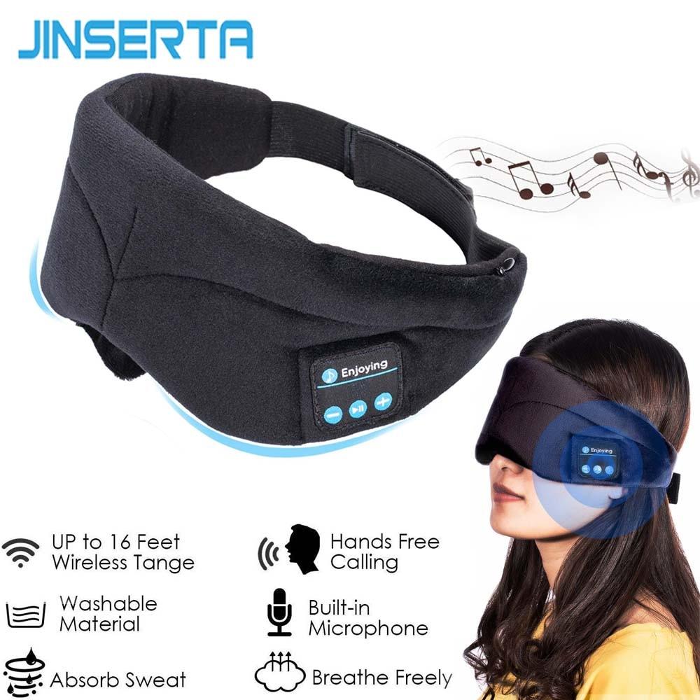 JINSERTA Bluetooth Earphone Sleep Mask Phone Headband