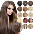 Blonde Clip In Human Hair Extensions Color Brazilian Virgin Hair Clip Ins 7Piece Honey  Blonde Clip In Human Hair Extensions
