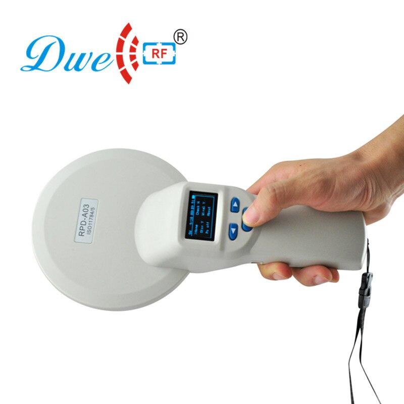 Портативный ISO 11784/11785 FDX B 134,2 кГц крупного рогатого скота слежения USB синий зуб ручной rfid считыватель для животных пометки