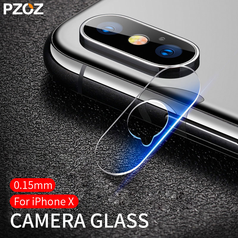 PZOZ For iPhone X XS Camera Len Protector Tempered Glass 0