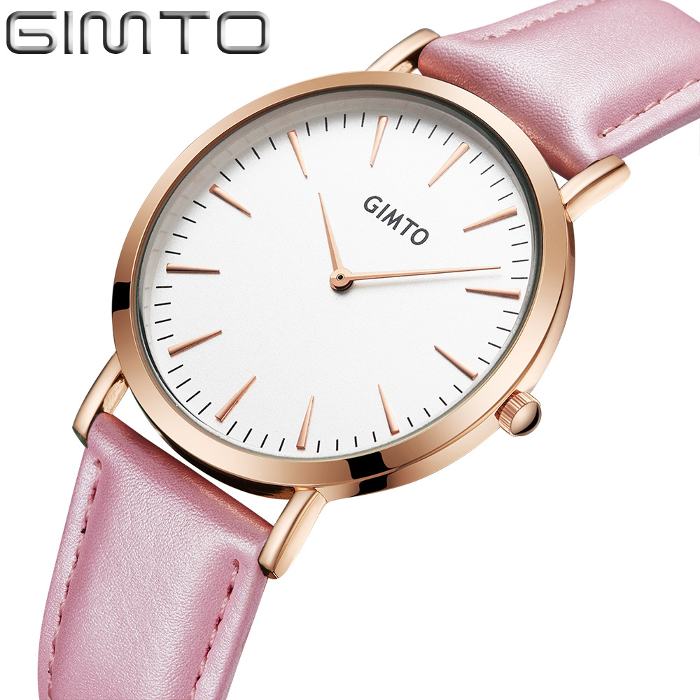 Fashion Ladies Quartz Watches Ultra Thin Women Simple Watch Leather Strap Minimal reloj mujer 2017 Casual Female Clock New ultra thin watch male student korean version of the simple fashion trend fashion watch waterproof leather watch men s watch quar