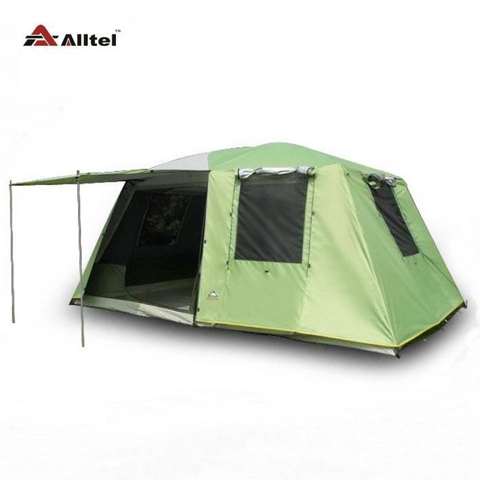 цена на Genuine KRD two bedroom double layer storm 6 people four seasons outdoor camping tent A-062