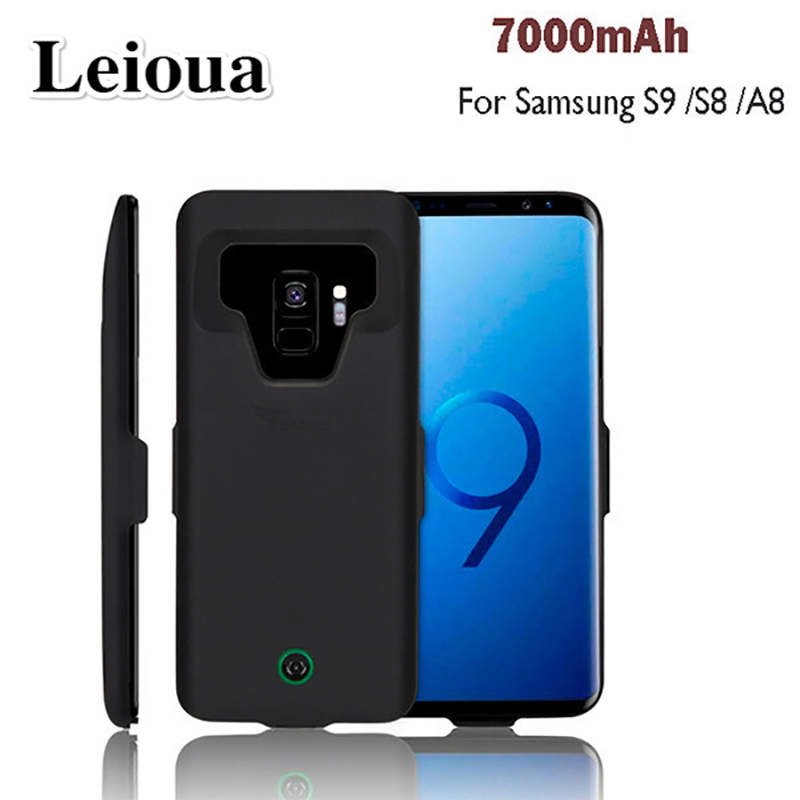 Leioua For Samsung Galaxy S9 S8 A8 Battery Case High Quality New 7000 Mah Power Bank Load Coverage For Samsung S9 S8 A8 Plus