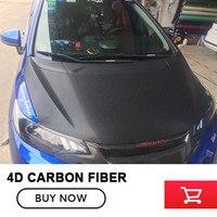 Black Car Styling 4D Thicken Car Carbon Fiber Vinyl Wrapping Film full body car film for car body film Size:1.52m*30m
