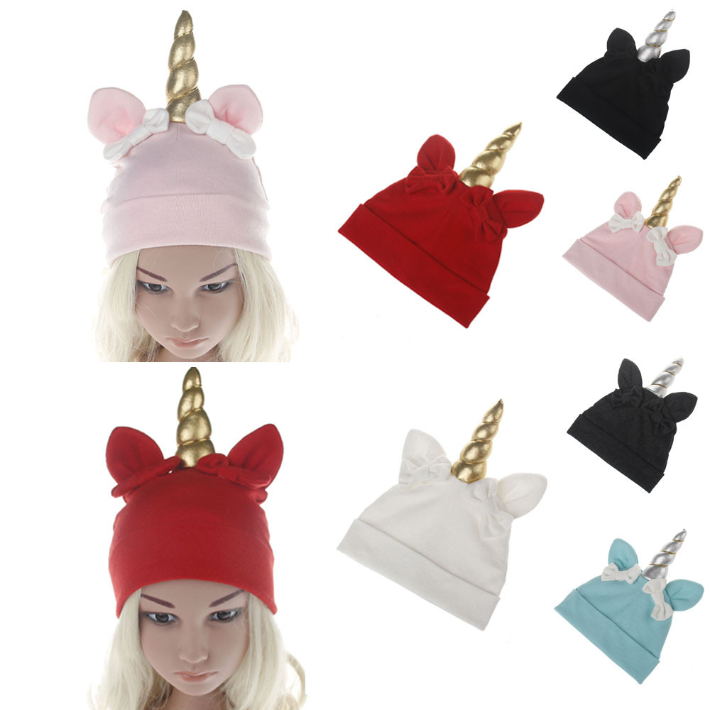 Cute kids hat baby reborn knit cap beard bonnet Baby Girls Boys Bow Cartoon Toddlers Cotton Sleep Cap Headwear Hat
