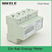 20(120)A 230/400V Din Rail Three Phase Energy Meter 20(120)A Portable Digital LCD With Modbus RTU MK LEM021GC
