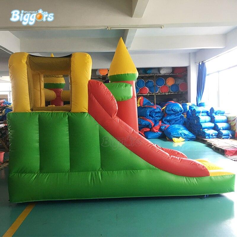 Maison gonflable combinée de rebond de château plein d'entrain gonflable de PVC de la cour 0.55mm avec la glissière - 6