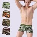Underwear men boxer shorts camuflaje transpirable hombres calzoncillos bragas modales boxeadores de marca para hombre elástico cortocircuitos atractivos de la ropa