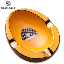 COHIBA ceramic cigar ashtray large diameter smoke trough holder AS-410