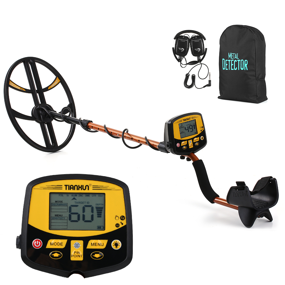 TIANXUN Professional Underground Metal Detector High Sensitivity Silver Detector TX 950 with Switchable Backlight LCD Display
