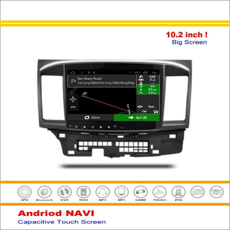 Coche android sistema de navegación gps para mitsubishi lancer 2007 ~ -radio ste
