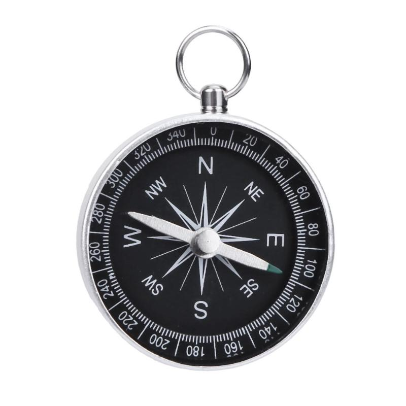 1Pc Portable Camping Outdoor Compass Hiking Survival Tools With Key Chain`` C ty