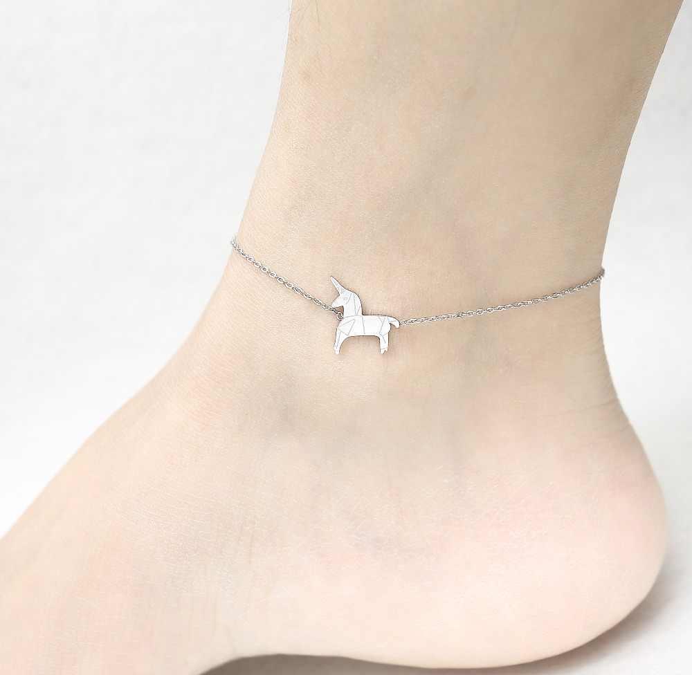 Ze stali nierdzewnej wiewiórka zwierząt łańcuszek na kostkę biżuteria sandały łańcuszek na kostkę kobieta dziewczyna szczęście urok foot biżuteria panie nogi bransoletki i łańcuszki na rękę