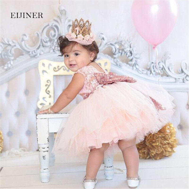 0-6Years Sequins Girls Princess Dresses Summer 2017 New Kids Dresses for Girls Costume Lace Hollow Children Dresses with Bow