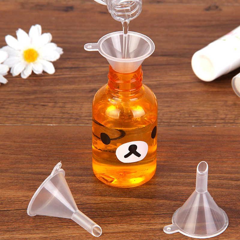 1pc/10 個充填空詰め替えボトルパッキングツール走行プラスチックミニ小ファンネルのための香水ツール新