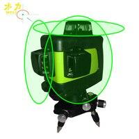 Muli laser de Auto nivelamento A Laser 3D 12 Linhas Verde 360 Horizontal E Vertical Cruz Super Poderoso Feixe de Laser verde