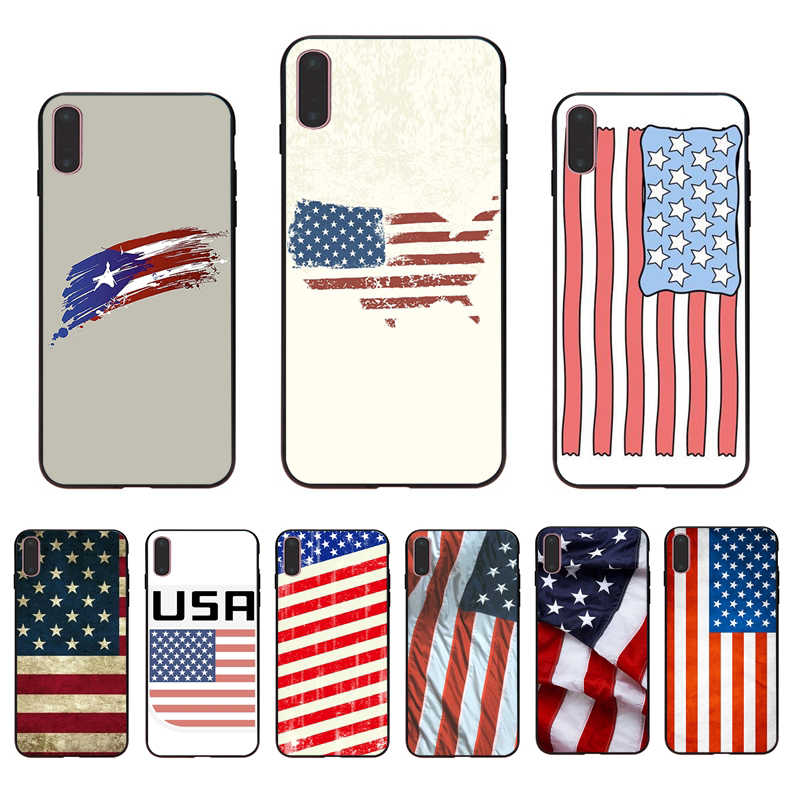 IMIDO Американский чехол с флагом diy для iPhone 5 5S SE 6 6 S 6plus 6splus 7 8 7 PLUS 8plus X XS XR XSMAX