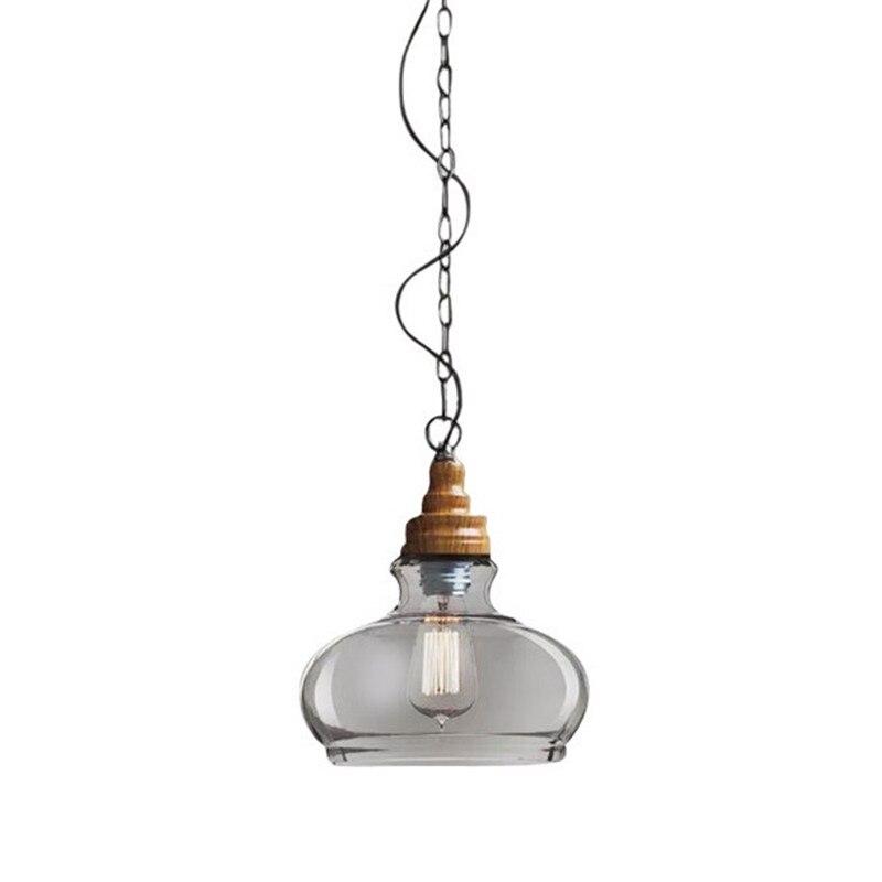 Creative Transparent Pendant Lights Wooden Pendant Lamp Retro Loft Style Living Dinning Room Bar Suspension Lighting PL252 демисезонные ботинки ecco 522004 53859