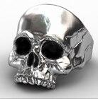 Punk Biker Skull Rin...
