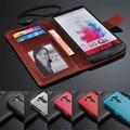 Nova arrivels carteira de couro de luxo 3 caso capa para LG G3 D855 D858 D859 com porta e suporte de quadro