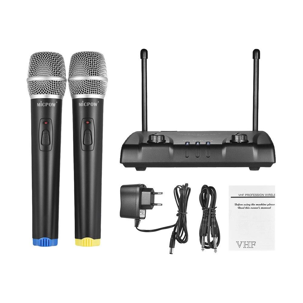 MICPOW W 10 VHF Wireless Microphone Mic System Dual
