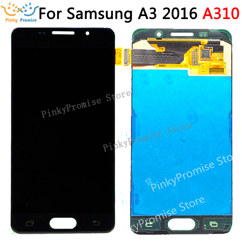 100 Work For SAMSUNG GALAXY A3 2016 A310 SM A310F LCD Display Touch Screen Digitizer Assembly