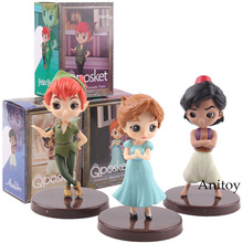 QPosket Q Posket wav personaggi fantastico tempo Aladdin Wendy Peter Pan Figure giocattolo PVC Action Figure giocattoli per bambini bambole 3 pz/set