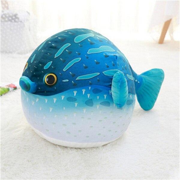 Fancytrader плюшевые морские животные Черепаха Осьминог Globefish игрушечный КИТ пенная частица набитый стул для детей 70 см X 50 см X 40 см - Цвет: green globefish