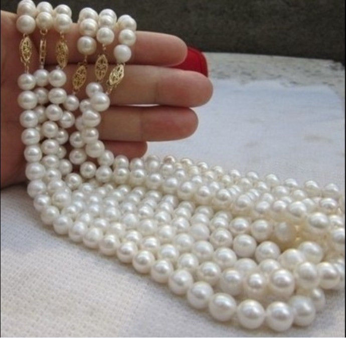 FREE SHIPPING>>>@@ > Hot sale &>>>>>wholesale AAA Level 6PC Akoya 6-7mm AAA white pearl necklace 18'' цена и фото