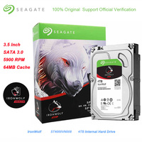 Seagate 4TB IronWolf SATA 3.0 Hard Disk for Desktop PC Games Music 64MB Cache 6Gb/s 5900 RPM 3.5 Inch Internal Hard Drive Disk