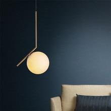 ФОТО Modern Minimalist Pendant Light Lamp Nordic Glass Ball Lamp Home/Clothing Ceiling Decoration for Living Room Bedroom Dining Room