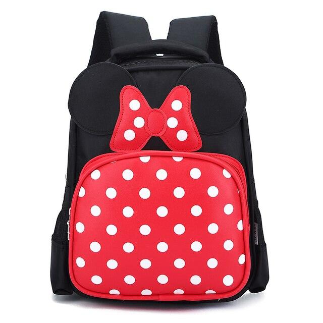 Waterproof Cartoon Minnie Mouse Backpacks Kids Baby Bags For Children Kid School